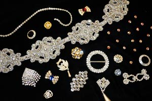 rhinestones and jewelry